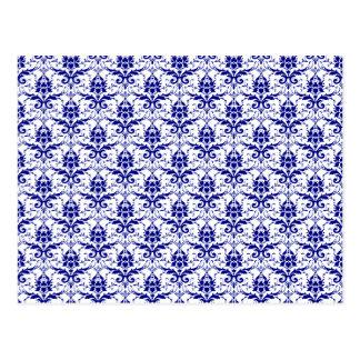 Elegant Vintage Blue and White Damask Pattern Postcard