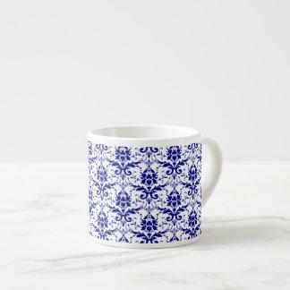 Elegant Vintage Blue and White Damask Pattern 6 Oz Ceramic Espresso Cup