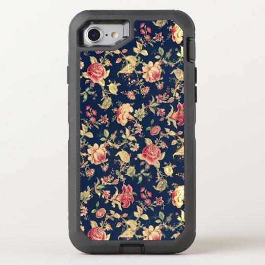 8697b33634c Elegant Vintage Blue Rose Floral OtterBox iPhone Case. . Design is  previewed with ...