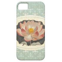 Elegant Vintage Botanical Print of Lotus Blossom iPhone SE/5/5s Case