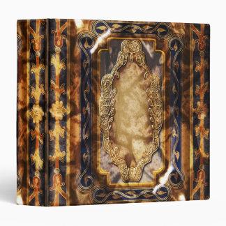Elegant vintage brown blue floral binders