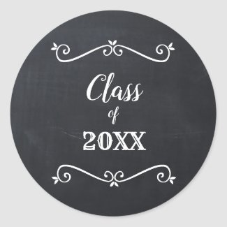 Elegant Vintage Chalkboard Back to School Sticker