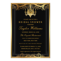 Elegant Vintage Chandelier Bridal Shower Invite