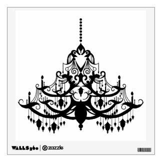 elegant vintage chandelier decorative wall decal