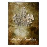 Elegant Vintage Chandelier Wedding Greeting Cards