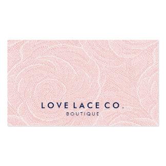 Elegant vintage chic pink floral lace cute pattern business card