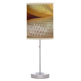 Elegant vintage chic silk gold beige victorian desk lamp