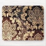 Elegant vintage Chocolate Damask Mouse Pad