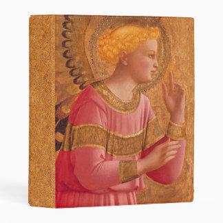 Elegant Vintage Christian Angel Figure Pink Gold Mini Binder
