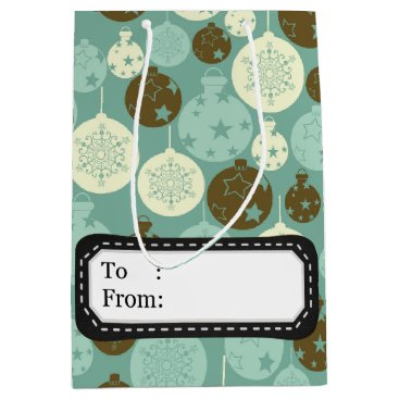 Professional Business Elegant vintage Christmas ornaments Medium Gift Bag