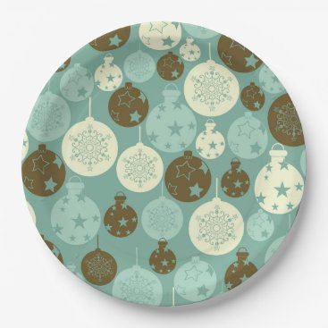 Professional Business Elegant vintage Christmas ornaments Paper Plate