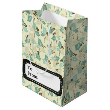Professional Business Elegant vintage Christmas poinsettia Medium Gift Bag