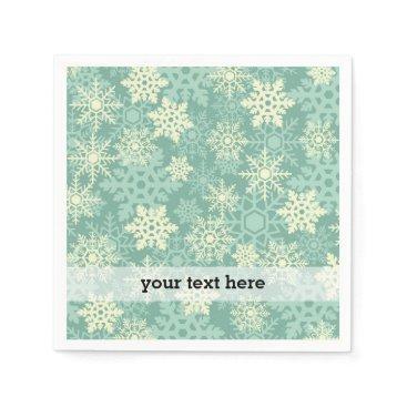 Professional Business Elegant vintage Christmas snowflakes Paper Napkin