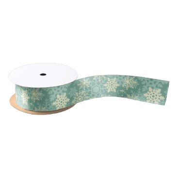 Professional Business Elegant vintage Christmas snowflakes Satin Ribbon