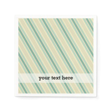 Professional Business Elegant vintage Christmas stripes Paper Napkin