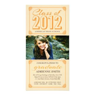 Elegant Vintage Class of 2012 Photo Graduate Card