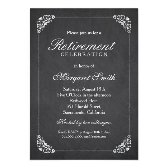 Elegant Vintage Corporate Retirement Party Invitation