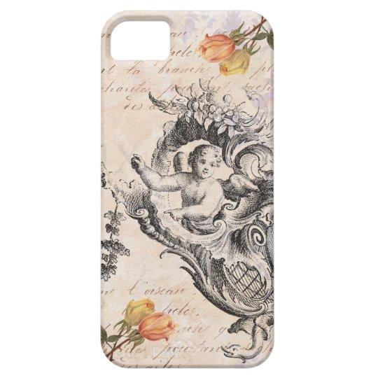 Elegant Vintage Cupid, Roses and Baroque Swirls iPhone SE/5/5s Case