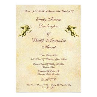 Elegant Vintage Cupids & Cherubs Wedding 6.5x8.75 Paper Invitation Card