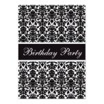 Elegant Vintage Damask Birthday Party Invitation