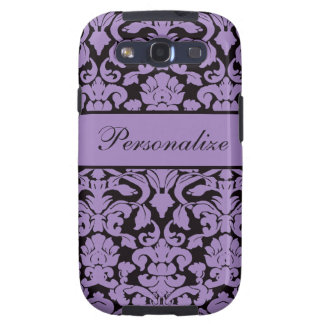 Elegant Vintage Damask Pattern Personalized Galaxy S3 Cover