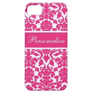 Elegant Vintage Damask Pattern Personalized iPhone 5 Cases