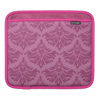 Elegant Vintage Damask Pink Girly Girl iPad Sleeve