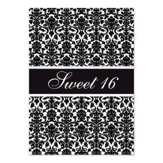Elegant Vintage Damask Sweet 16 Party 5x7 Paper Invitation Card