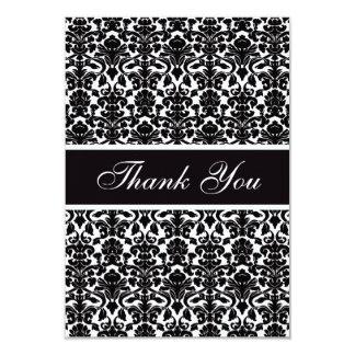 Elegant Vintage Damask Thank You Wedding Card