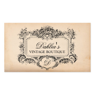 Elegant Vintage Decoration Fashion Boutique Double-Sided Standard Business Cards (Pack Of 100)