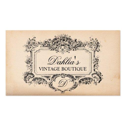 Elegant Vintage Decoration Fashion Boutique Business Card