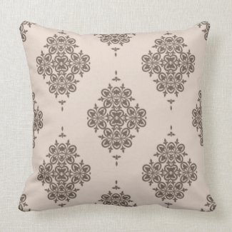 Elegant Vintage Design in Gray on Pink/Any Color Pillows