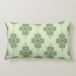 Elegant Vintage Design in Green or Any Color Lumbar Pillow