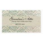 Elegant Vintage Distressed Teal Business Card2 Business Card