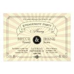 Elegant Vintage Engagement Party Invitation