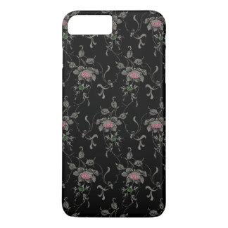Elegant Vintage Engraved Roses iPhone 7 Plus Case
