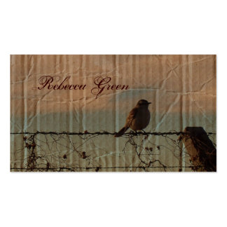elegant vintage farm fence country wedding Double-Sided standard business cards (Pack of 100)