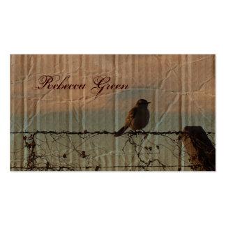 elegant vintage farm fence country wedding business card