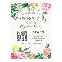 Elegant Vintage Floral Bachelorette Party Card
