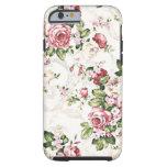 Elegant Vintage Floral Cottage Cream Rose iPhone 6 Case