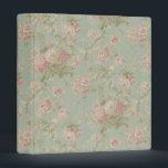"""Elegant VIntage Floral Cottage Rose Binder<br><div class=""""desc"""">This binder features an elegant vintage floral cottage rose pattern.</div>"""