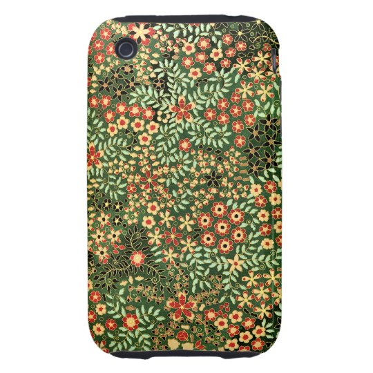 Elegant Vintage Floral Decorative Design Tough iPhone 3 Cover