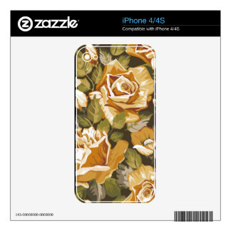 elegant vintage floral iPhone 4/4S skin Decals For The iPhone 4