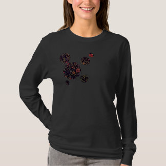 Elegant Vintage Floral Ladies Long Sleeve T-Shirt