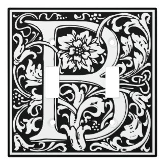 Elegant Vintage Floral Letter B Monogram Light Switch Cover