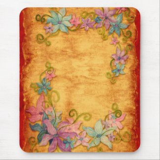 Elegant Vintage Floral Mousepad