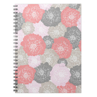 Elegant Vintage Floral Pattern in Pink Journal
