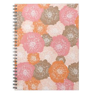 Elegant Vintage Floral Pattern in Sorbet colors Journals