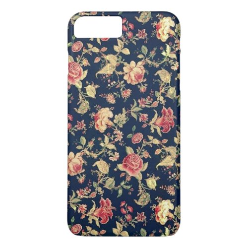 Elegant Vintage Floral Rose Phone Case