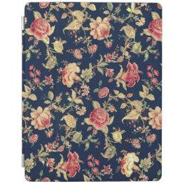 Elegant Vintage Floral Rose iPad Smart Cover